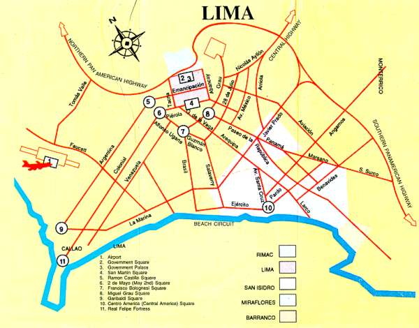 Lima Tour Lima Peru Discount Vacation Travel And Holidays - Cities map of peru