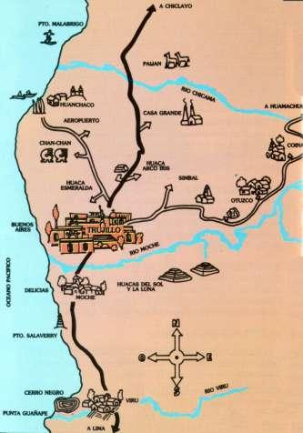 Chan Chan Peru Map.Peru Tours Discount Vacation Travel To Sipan Chan Chan