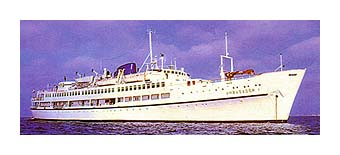 The Ambasador is a first-class luxury cruise ship in Galapagos Islands, Ecuador