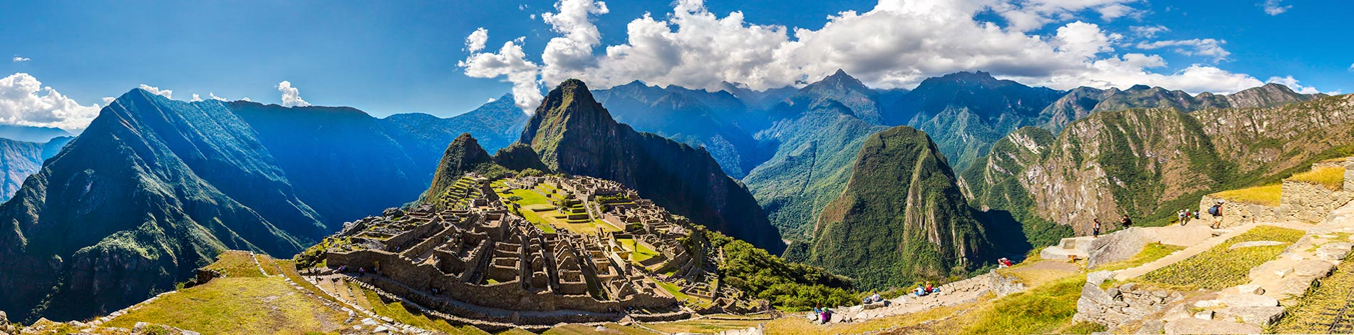 Panoramic view over Machu Picchu Citadel