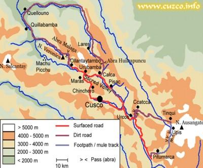 Machu picchu map city of cusco and machu publicscrutiny Image collections