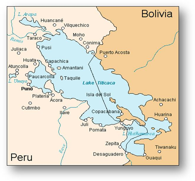 Airports In Peru Map.Lake Titicaca Map