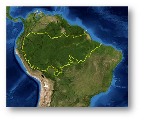 Amazon Rainforest Map - World map showing amazon river