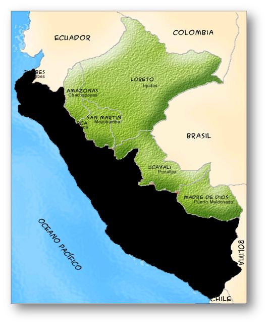 Amazon Rainforest Map - Where is peru