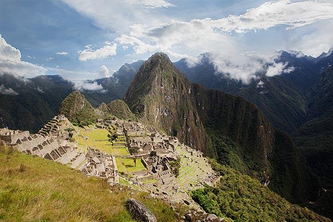 Machu Picchu sunny landscape