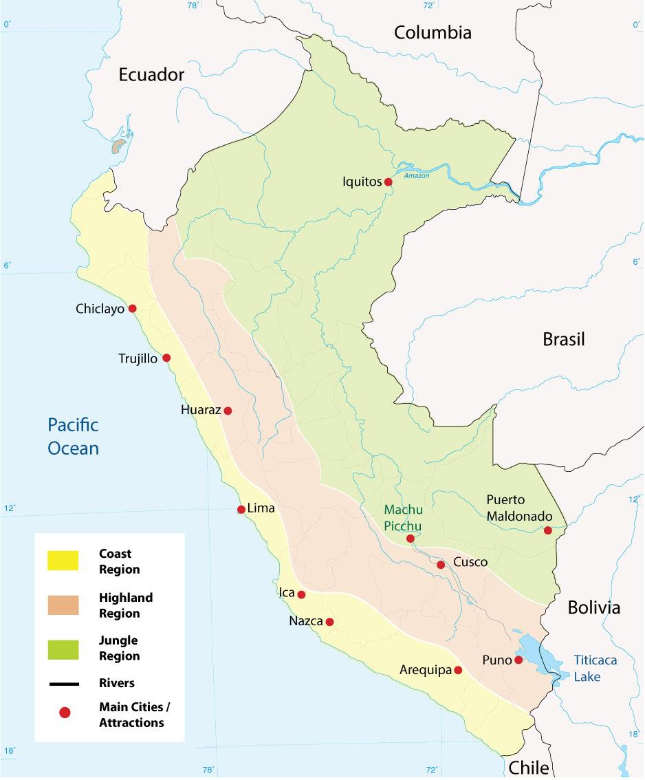 Peru regions Map