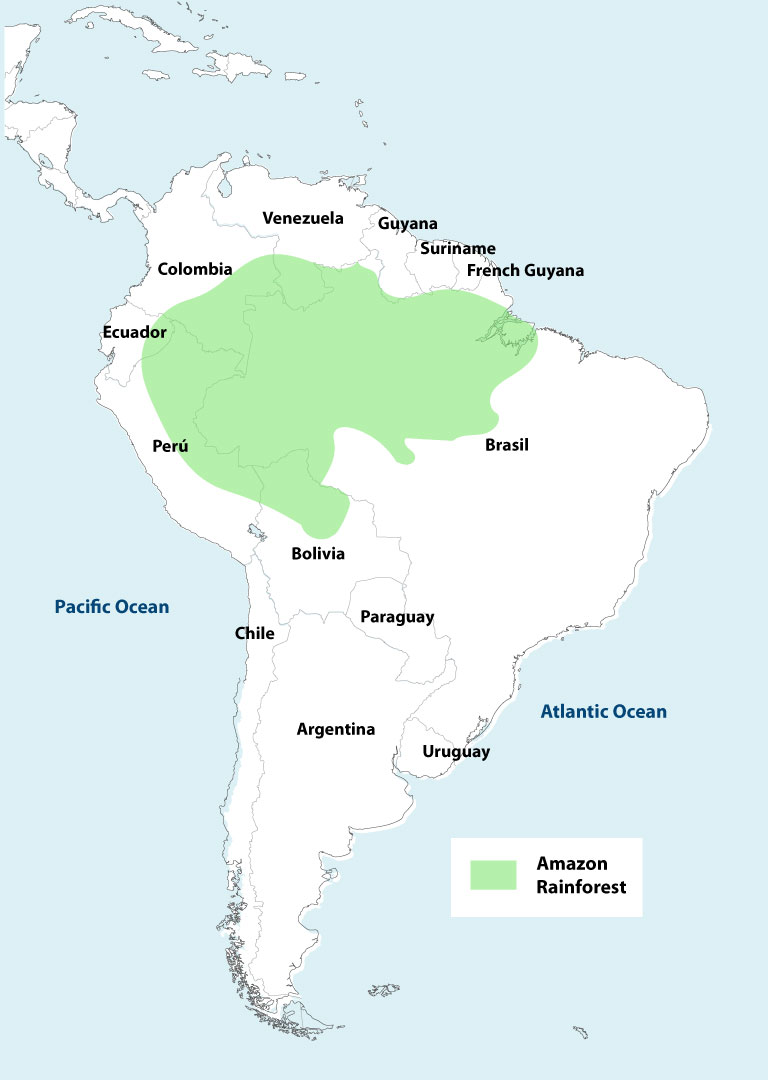 Map Of Amazon River | Map interobject