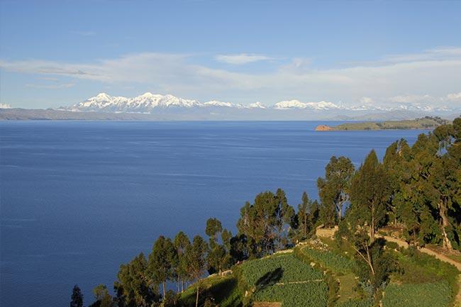 Titicaca island landscape