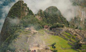 Cloudy Machu Picchu landscape
